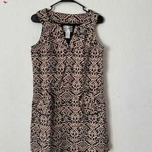 Mini dress black and brown
